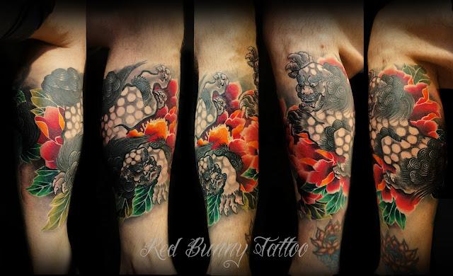 karajishi  tattoo  唐獅子牡丹 タトゥー 刺青