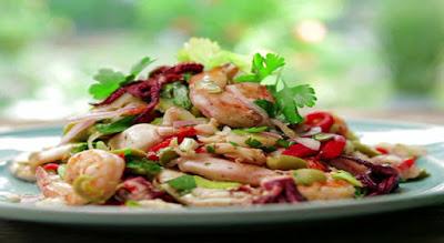 Makanan pantangan Bagi Penderita Asam Urat, Seafood