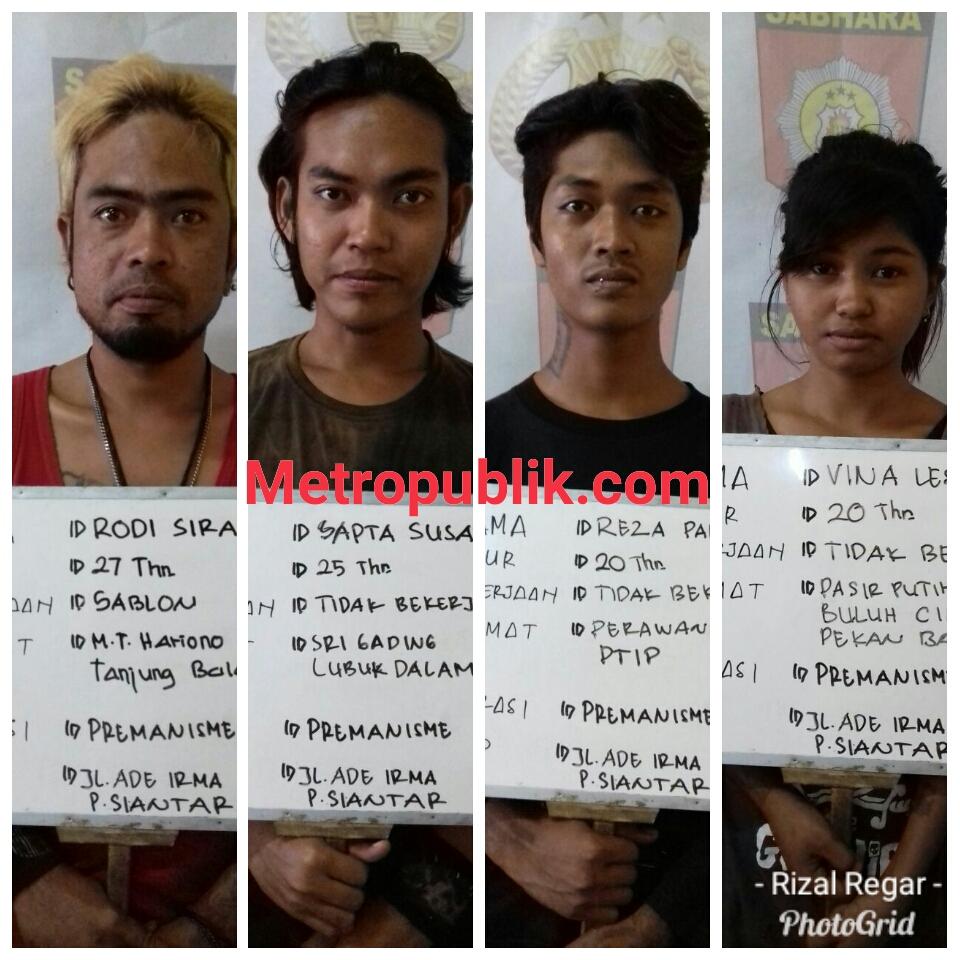 Polres Siantar Amankan 3 Laki-laki dan 1 Perempuan dalam Razia oprasi Premanisme