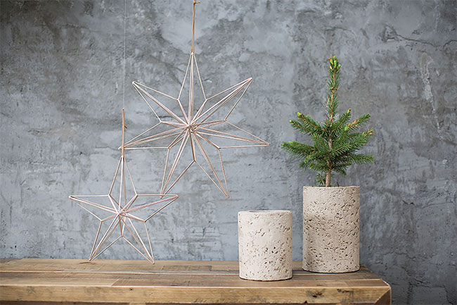Wholesale wire star ornaments from Accent Decor