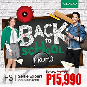 OPPO F3 Now Only Php15,990 Until July 31, 2017