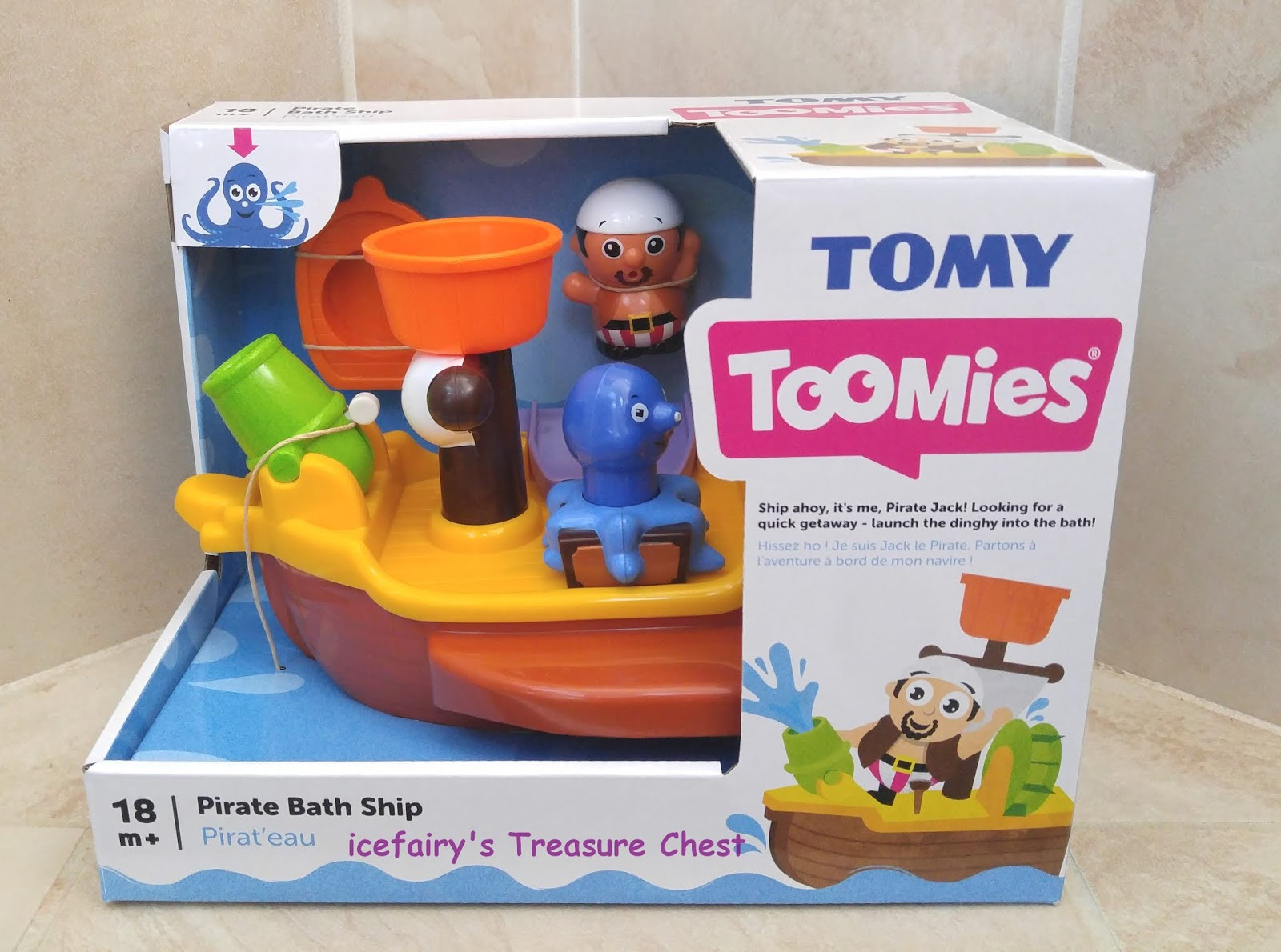Bath Time Fun with Toomies Pirate Ship