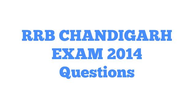 Quiz No. - 136 | RRB CHANDIGARH Exam 2014 में पूछे गए प्रश्न।