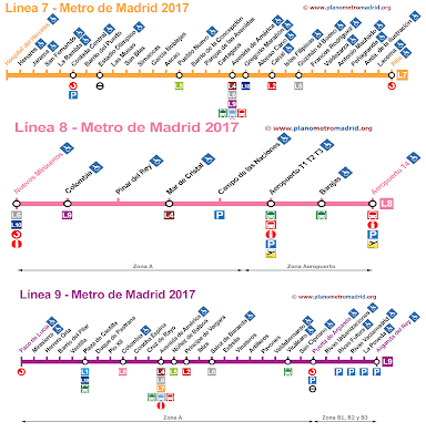 Mapa Metro Madrid T4