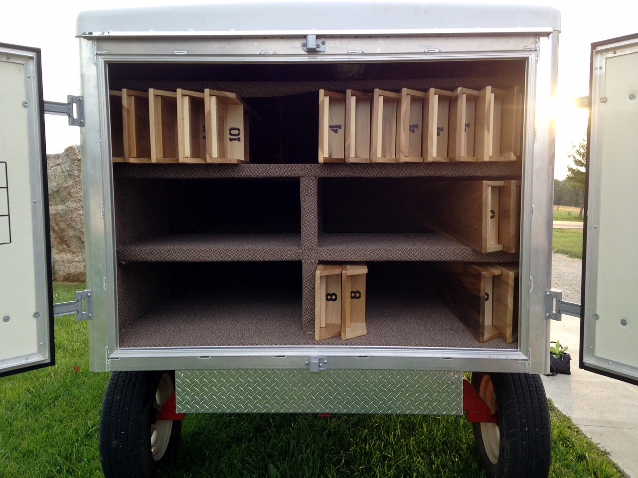 inside of amish bench wagon