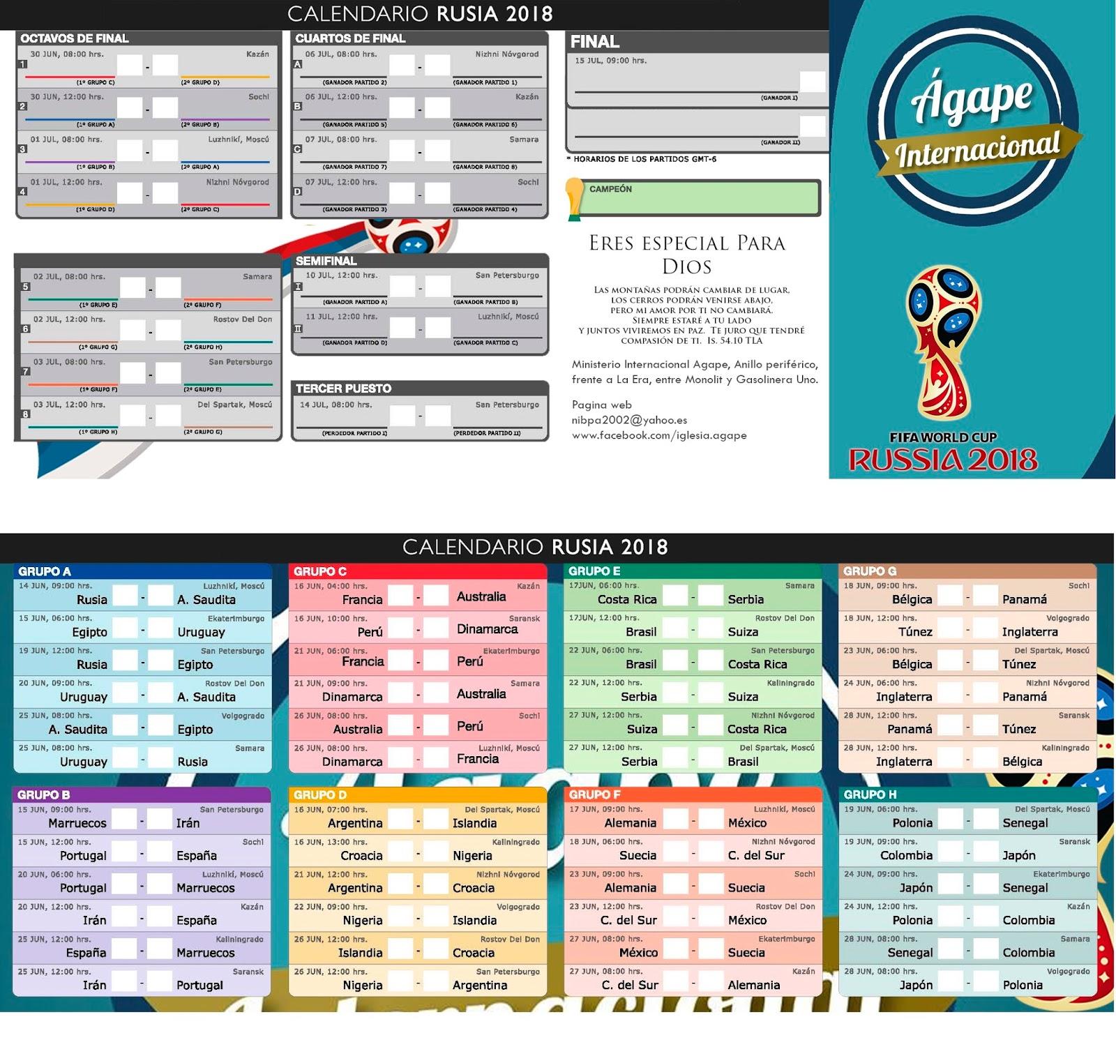 Calendario Mundial Futbol.Top 10 Punto Medio Noticias Calendario Y Grupos Del Mundial De