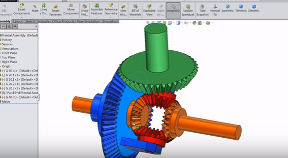 How to create sketch Differential Gear Box in Solidworks Design