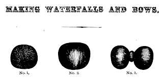 Illustration of waterfall hair piece, 1867, from The Self-Instructor in the Art of Hair Work.