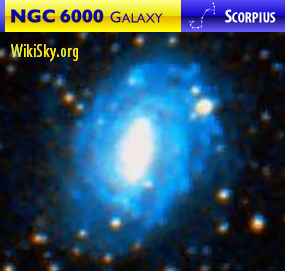 NGC 6000 galaxy in Scorpius — WikiSky.org image