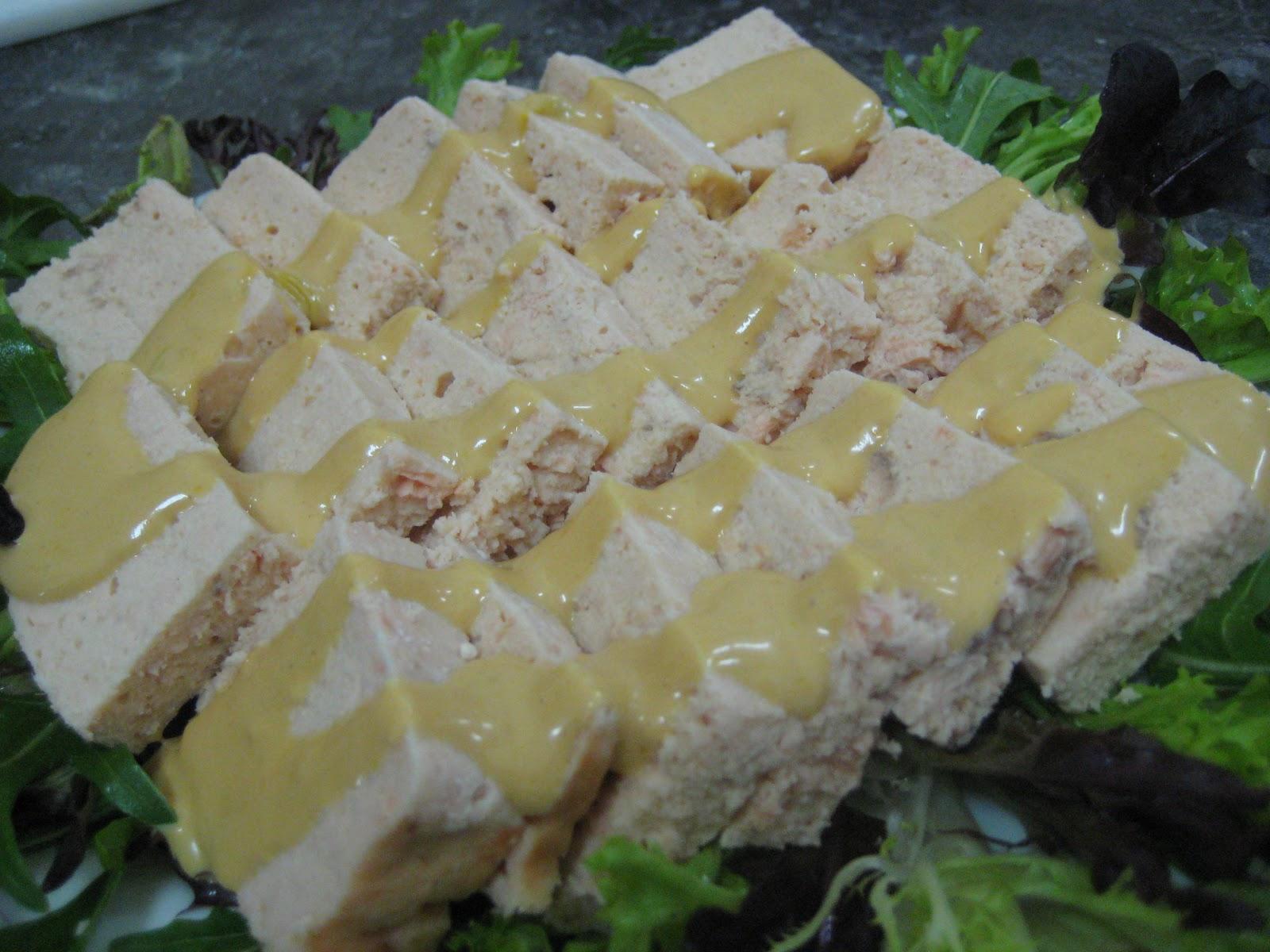 ShuMama-舒媽媽美食: 涼拌海鮮蘆筍 鮭魚奶凍