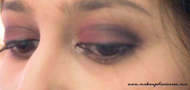 Matte Cranberry Smoky Eyemakeup with a Pop of Champange