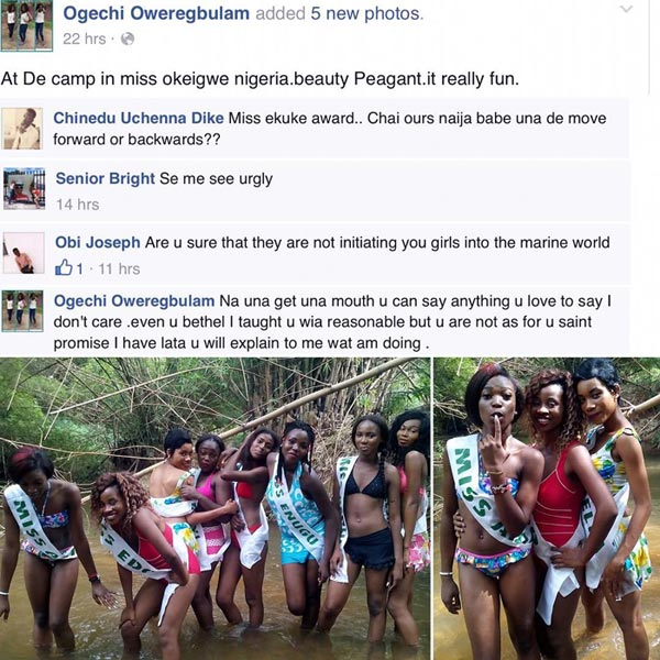 """Facebook Friends Cook Female Contestant Of """"Miss Okigwe"""" Beauty Pagent"""