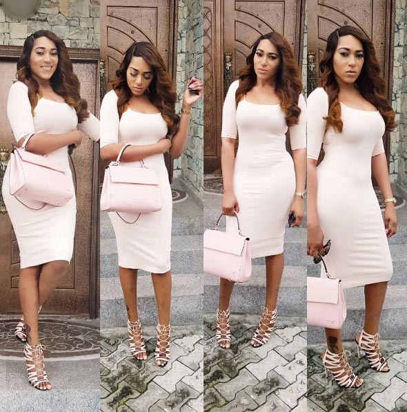 Actress Rukky Sanda stuns in tight-fitting pink dress