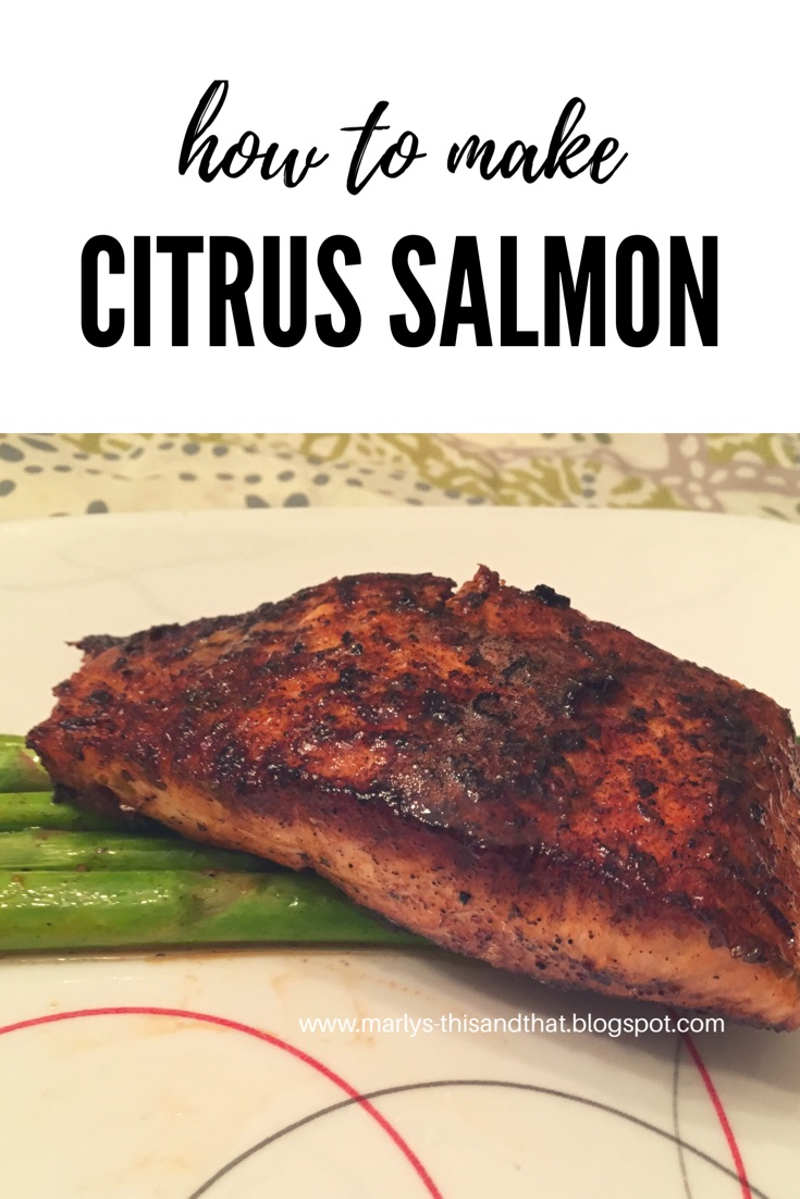 Marinate  in citrus juice and pan-sear it for moist fabulous salmon.