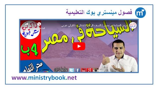 السياحة في مصر للصف الرابع الابتدائي الترم الاول