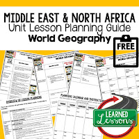 Middle East geography lesson plans, world geography lesson plans, geography activities, world geography games, world geography middle school, world geography high school