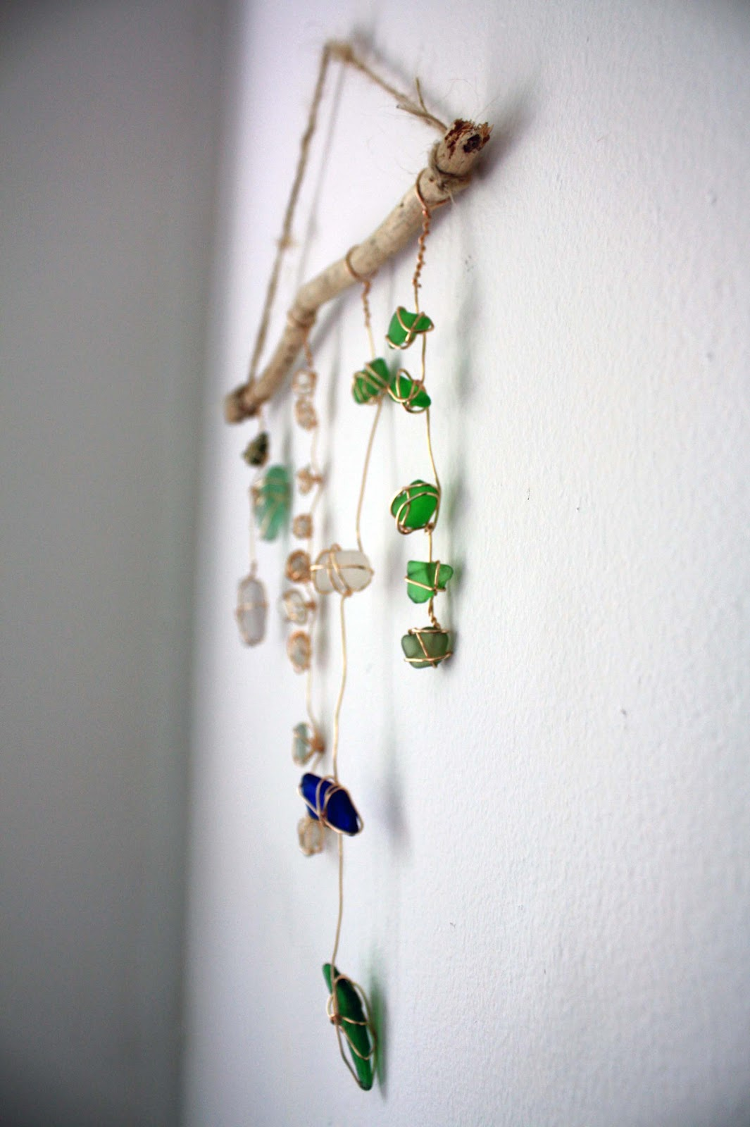 Visibly Moved Sea Glass Wall Hanging