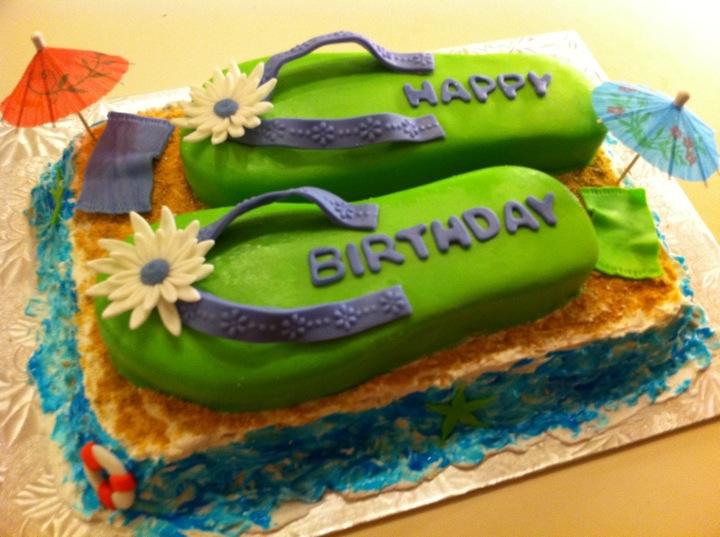 Cc S Cake Decorating The Infamous Flip Flop Cake