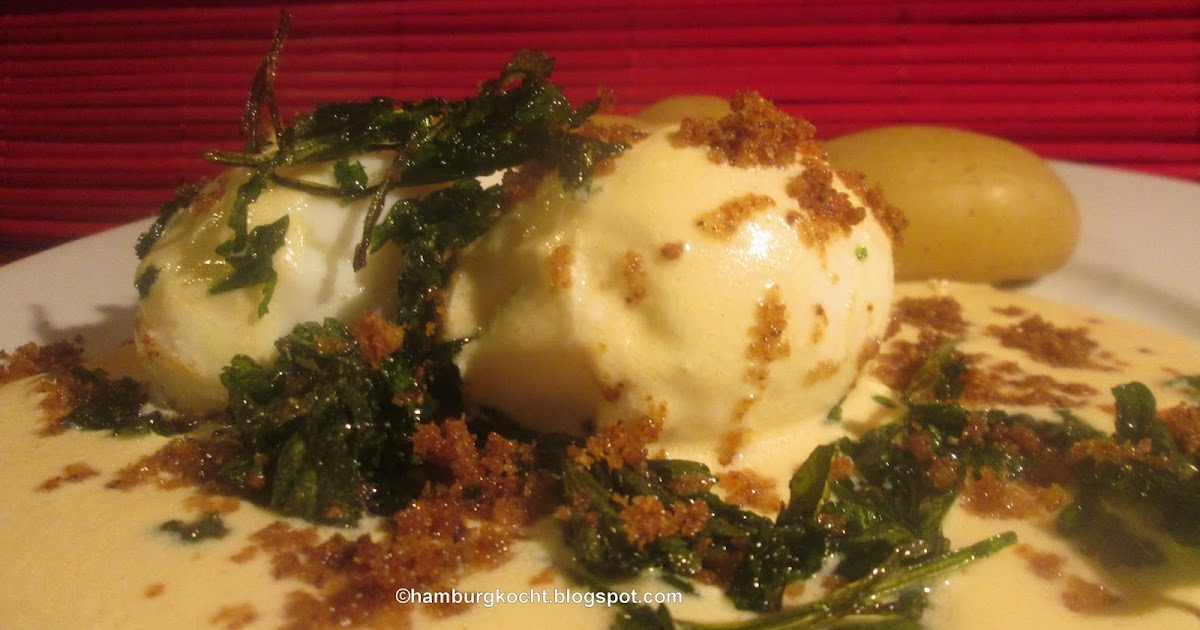 Hamburg kocht eier in senfsauce mit frittierter petersilie nach rainer sass - Eier kochen wachsweich ...