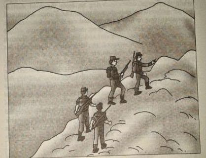 SAMPLE TAT PICTURE ON SOLDIERS CLIMBING ON MOUNTAIN