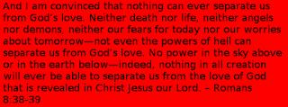 Romans 8:38-39 bible verses