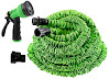 Hosem-100 Ft- Expandable Garden Hose + 8 Function Spray Nozzle and Shut-off Valve, Lightweight