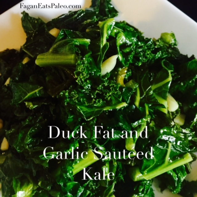 Duck Fat and Garlic Sauteed Kale