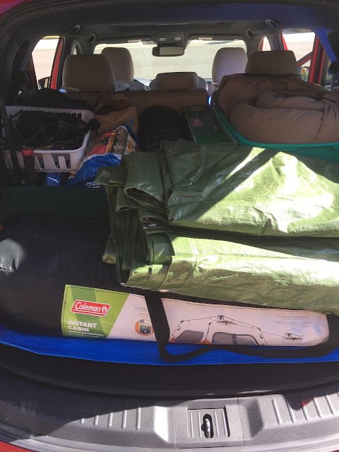 2017 Mazda CX-9 Grand Touring with camping supplies in back