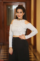 Manjusha in sleevelss crop top and black skirt at Darshakudu pre release ~  Exclusive Celebrities Galleries 076.JPG