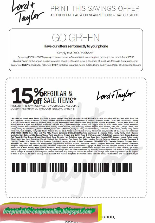 How to Save at Lord and Taylor
