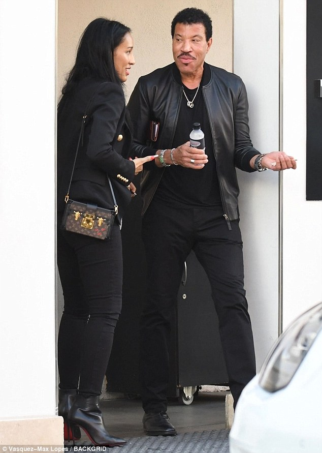Lionel Richie and longtime girlfriend Lisa Parigi pictured out as they get their facials done together in Beverly Hills