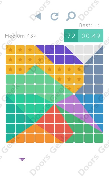Cheats, Walkthrough for Blocks and Shapes Medium Level 434