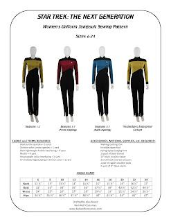 Star Trek TNG Women's Jumpsuit Sewing Pattern