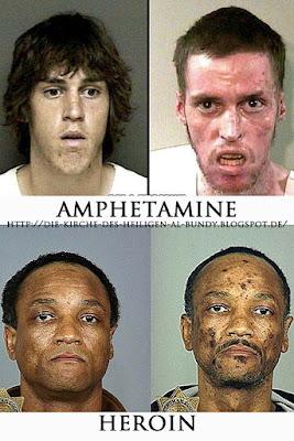 Gesichter Auswirkungen von harten Drogen