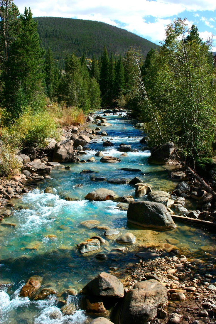 Snake River in beautiful Keystone, Colorado, USA
