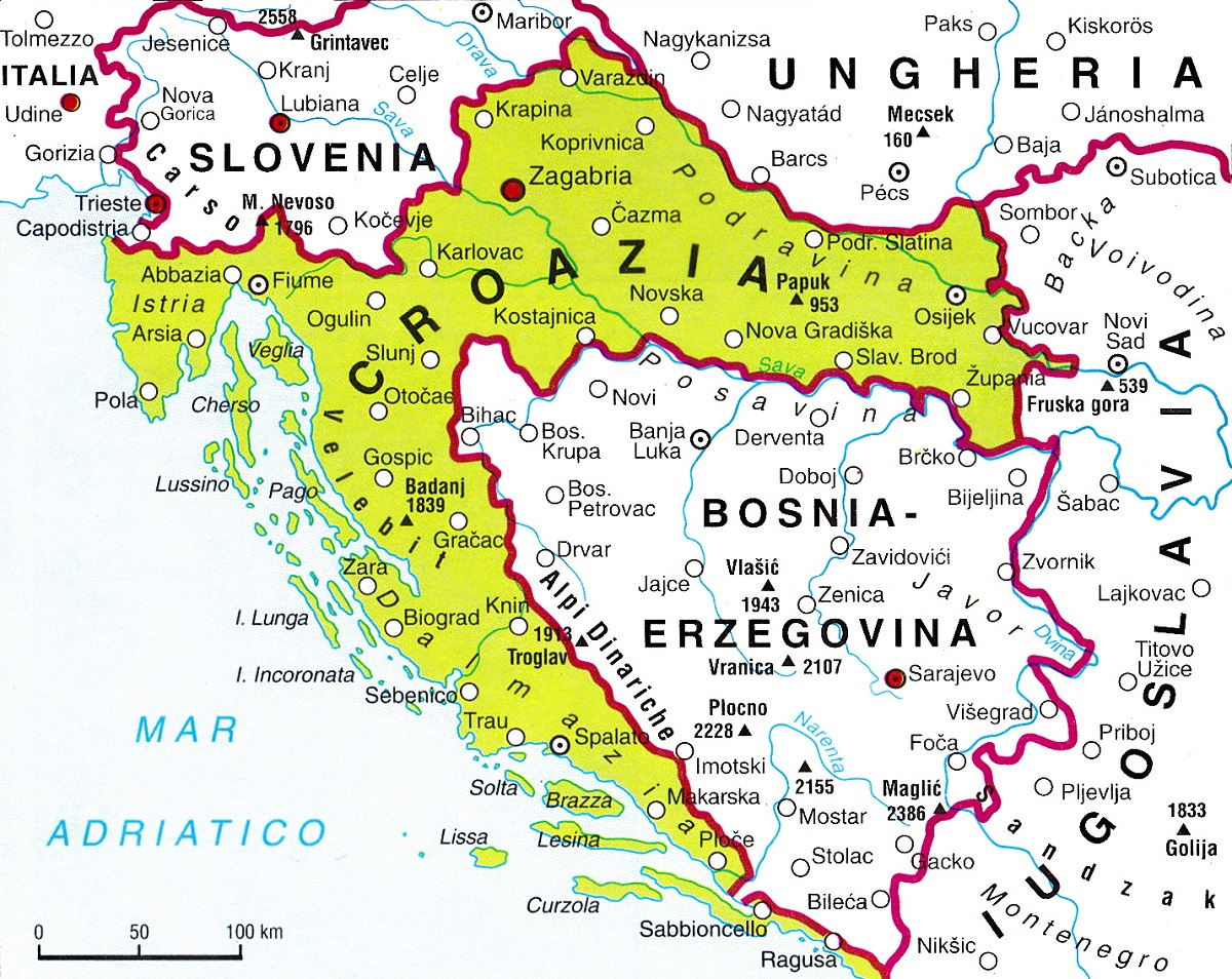 Cartina Della Slovenia E Croazia.Croazia Lessons Blendspace