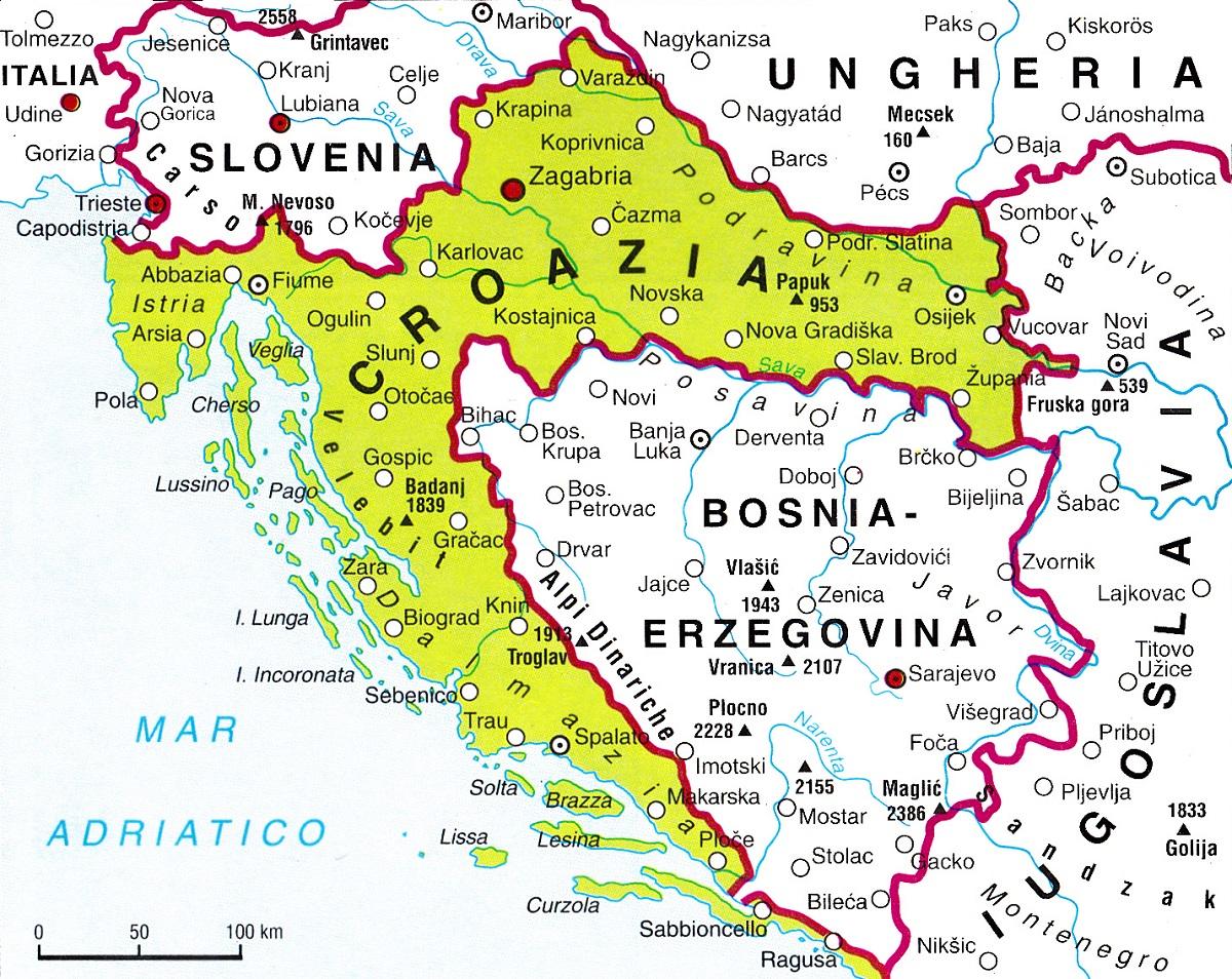 Cartina Slovenia Croazia Bosnia.Croazia Lessons Blendspace