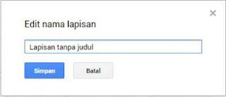 edit lapisan tanpa judul di Google Maps