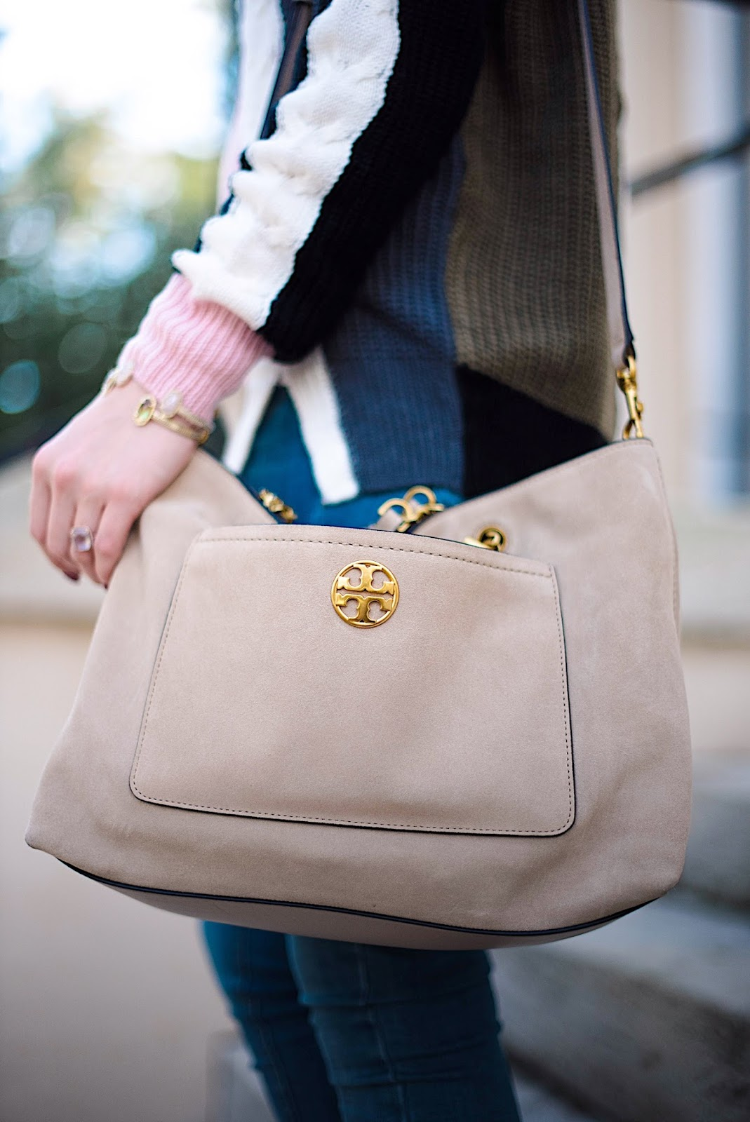 Tory Burch Chelsea Suede Satchel - Something Delightful Blog