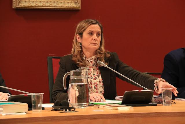 La alcaldesa, en un pleno