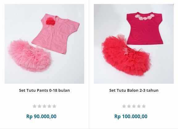 baju bayi perempuan set lengkap