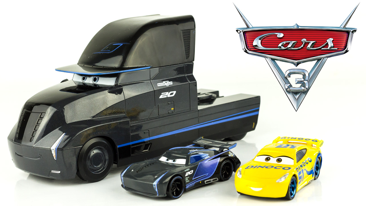 super h ros et compagnie disney cars 3 camion gale beaufort jackson strom cruz ramirez dinoco. Black Bedroom Furniture Sets. Home Design Ideas