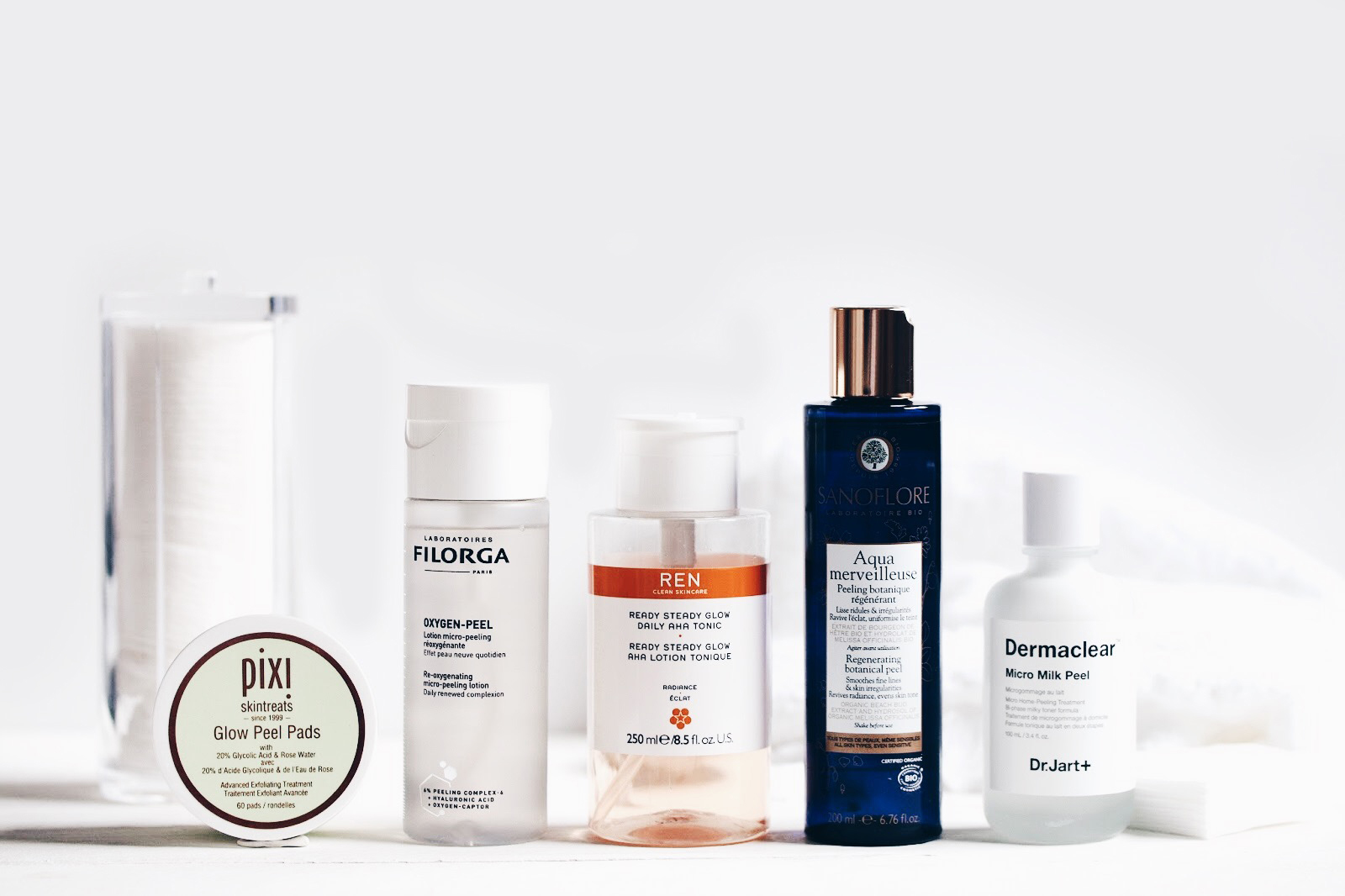 lotions peeling visage avis test comparatfi ren filorga dr jart sanoflore aqua merveiilleuse pixi