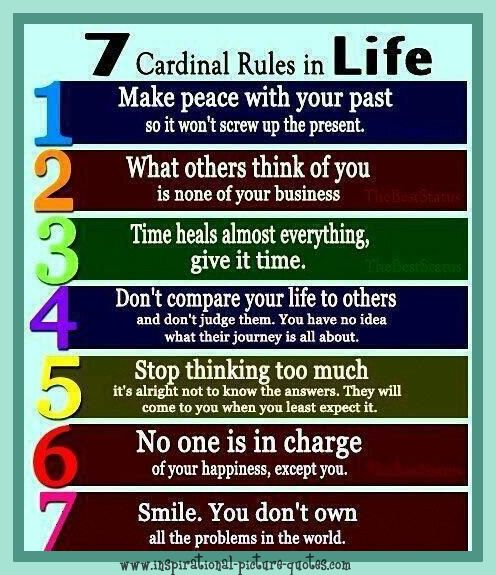 Inspirational Quotes On Life: Inspirational Quote 7 Rules In Life