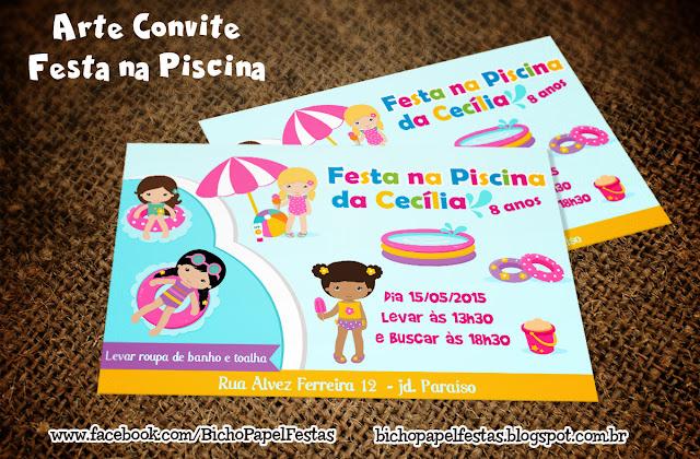 Convite Festa na Piscina