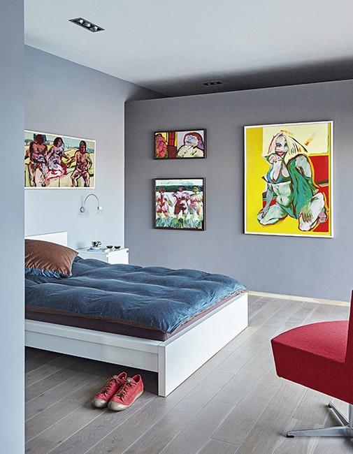 lienzos en el dormitorio chicnaddeco
