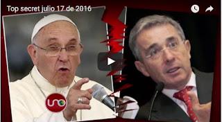Papa Francisco no recibió a Uribe Vélez