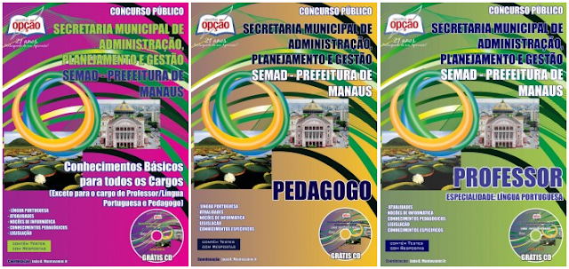 apostilas concurso SEMED AM Manaus 2018 Professor de Língua Portuguesa
