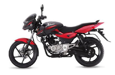New Bajaj Pulsar 150 side view red images