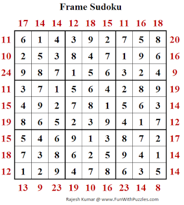 Frame Sudoku Puzzle (Fun With Sudoku Series #268) Solution
